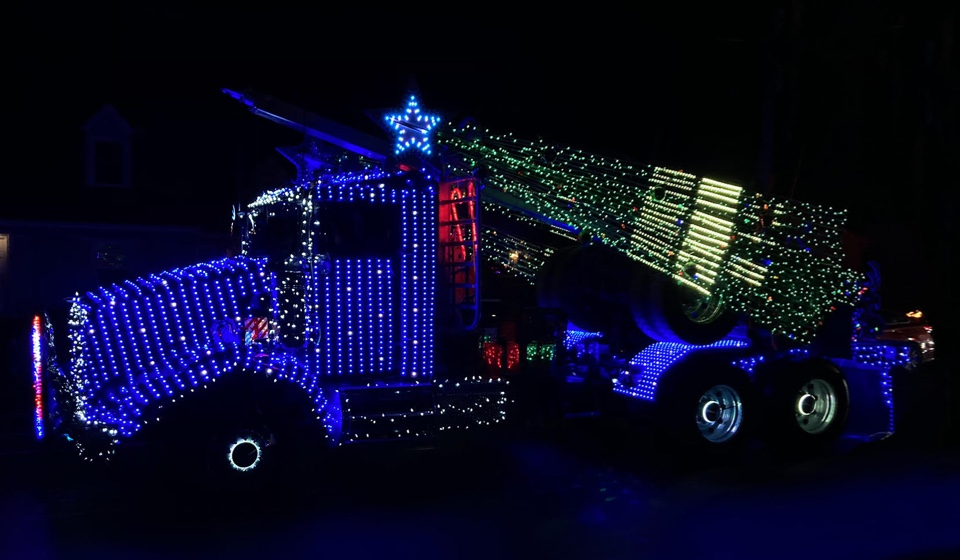 truck with lights